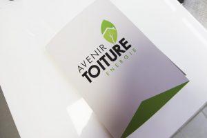 pochettes a rabat impression avenir toiture energie communication