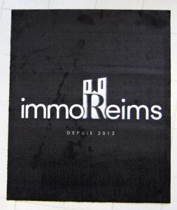 tapis immo reims objet publicitaire goodies accueil communication signalétique