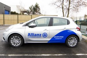 marquage véhicule voiture allianz covering communication