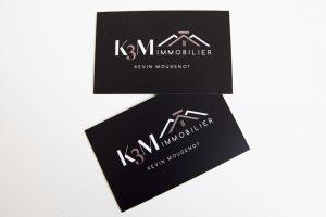 carte de visite k3m immobilier communication