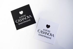 cartes de visite champagne aurore casanova impression communication