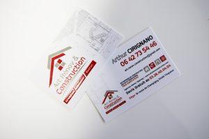 cartes de visite impression art rénov & construction communication
