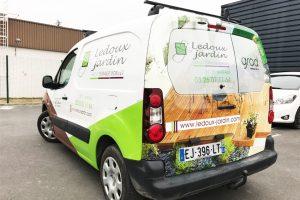 marquage véhicule utilitaire ledoux jardin covering communication