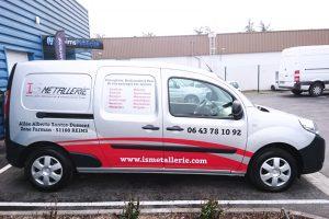 marquage véhicule utilitaire adhésifs is metallerie communication publicité