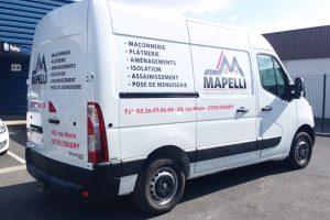 marquage véhicule utilitaire adhésifs mapelli communication publicité