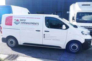 marquage véhicule utilitaire adhésifs smtp aménagements communication publicité