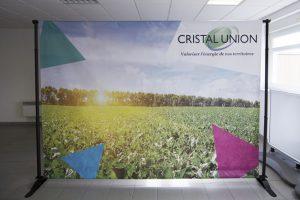 impression signalétique bâche photo photowall cristal union communication reims publicité displays