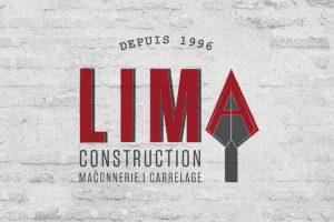 conception graphique création graphique logo charte graphique identité visuelle Lima construction maçonnerie carrelage design communication publicité