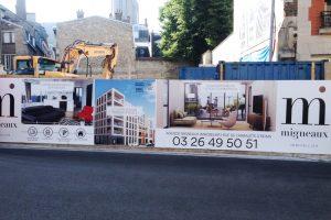 panneaux akylux grand format migneaux immobilier immo signalétique communication publicité