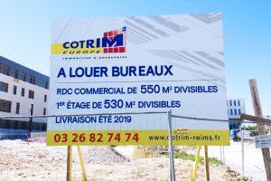 panneau de chantier grand format 4x3m cotrim immobilier signalétique publicité