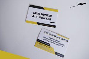 cartes de visite impression air taxi hunter communication publicité