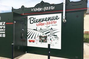 panneau signalétique kiosque à pizza sillery reims